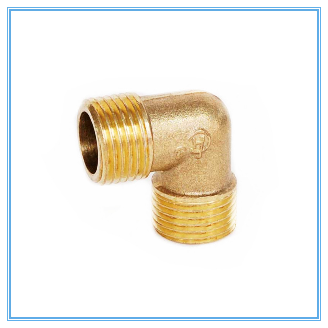 Brass Tube Fitting Adapter 90 Degree 1/8