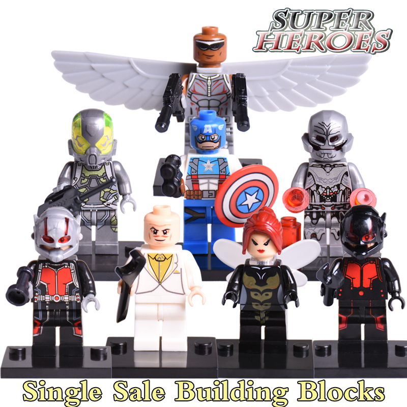 Building Block Ultron Iron Man ANT-MAN Red Skull Marvel Super Heroes Avengers X-men Starwars Diy figures Bricks Kids DIY Toys фигурка ant man ant man yellow jacket pop marvel