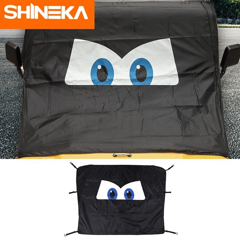 SHINEKA Car Universal Accessories Front Window Windshield Sunshade Anti Snow UV Rays Sun Visor Cover For