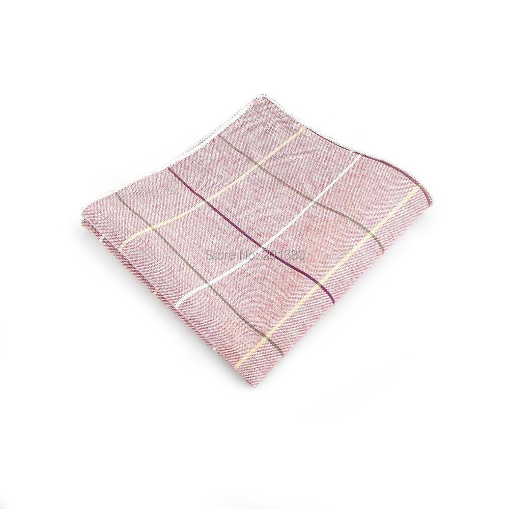 HOOYI Men Pocket Square Plaid Handkerchiefs Stripe Accessories Gift Business