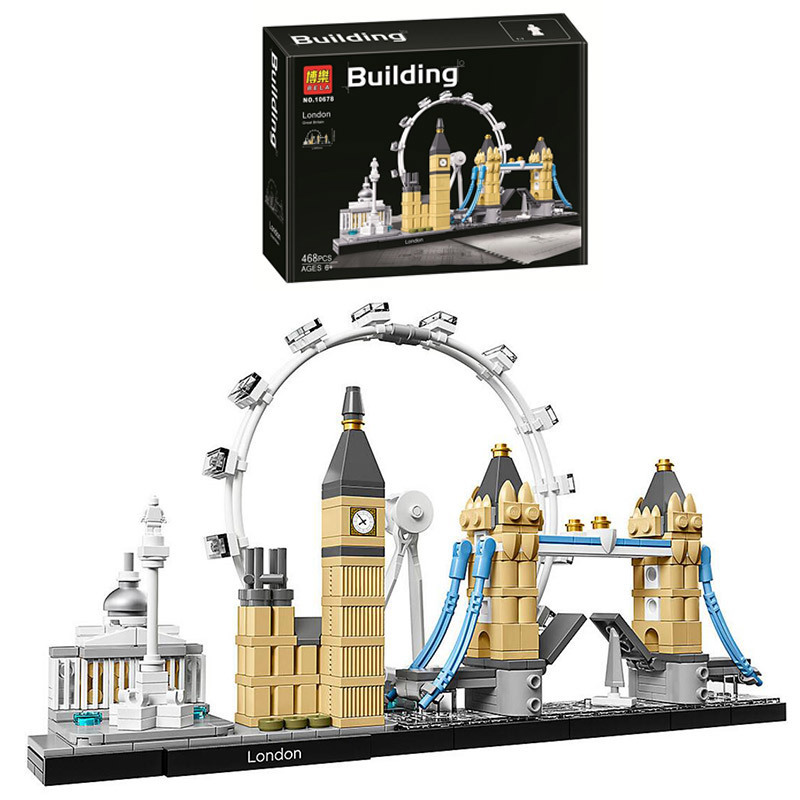 468PCS Bela 10678 Fit Legoness Architecture London 21034 Set Eye Big Ben Tower Bridge Building Block Bricks Toys Christmas Gifts wange 8011 21 great architectures 11 models london bridge big ben tiananmen building block sets educational diy bricks toys