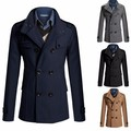 New Arrival Fashion Style 2016 Men's Casual Dust Coat Male Fashion Spring Winter Jacket Keep Warm Trench Coat 4 Size 4 Color