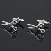 C-MAN Luxury Silver scissors shirt cufflink for mens Brand cuff buttons cuff links High Quality Silver abotoaduras Jewelry
