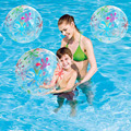 85 cm Transparente Bola de Praia Inflável Jogo Piscina de Água Brinquedos de Natação de Verão Jogar Diversão Ao Ar Livre Esporte Brinquedos Favores de Partido