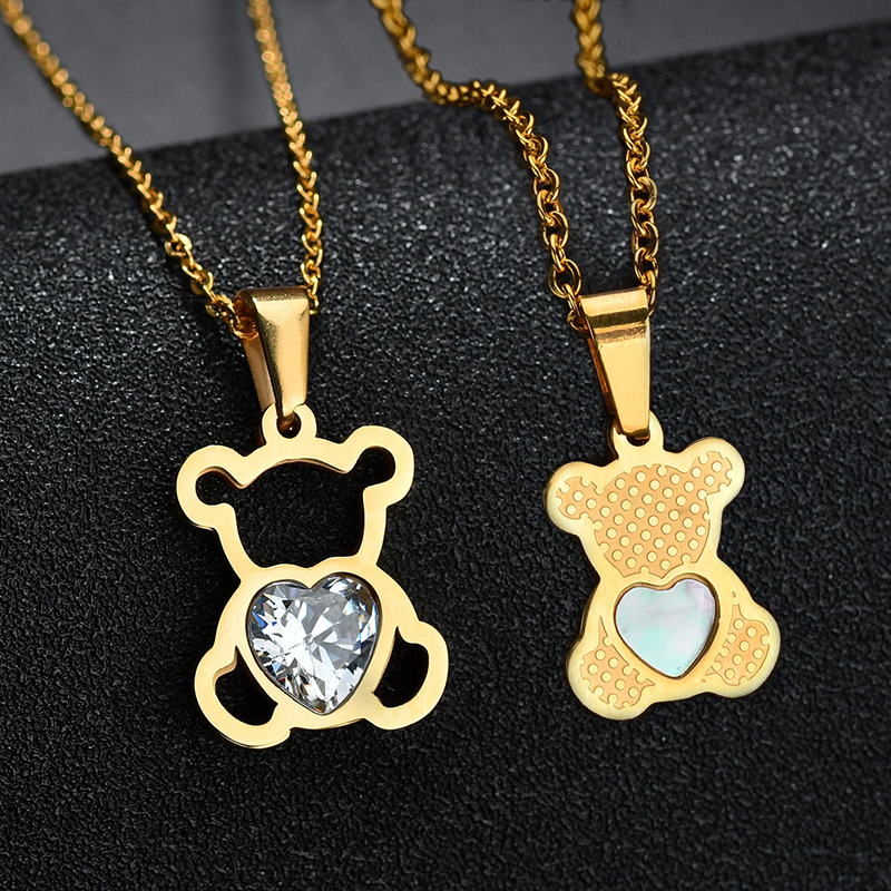 HTB1FGuNQQzoK1RjSZFlq6yi4VXaI - Charm Hollow Cubic Zircon Bear Chain Necklaces For Women Gold Color Animal Necklace Jewelry Gift