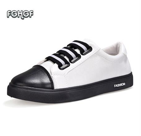Fashion Sneakers Men Canvas Shoes Man White Black Shoe Mens Shoes Casual Trainers Tenis Masculino Adulto Chaussure Homme Zapatos