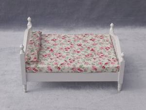 MINI Doll house Mini furniture white bed cloth bed linen products