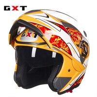 GXT Motorcycle Helmet FLIP UP Helmet Motorbike Motorcross Full Face Helmet Capacete Cascos Para Moto Racing