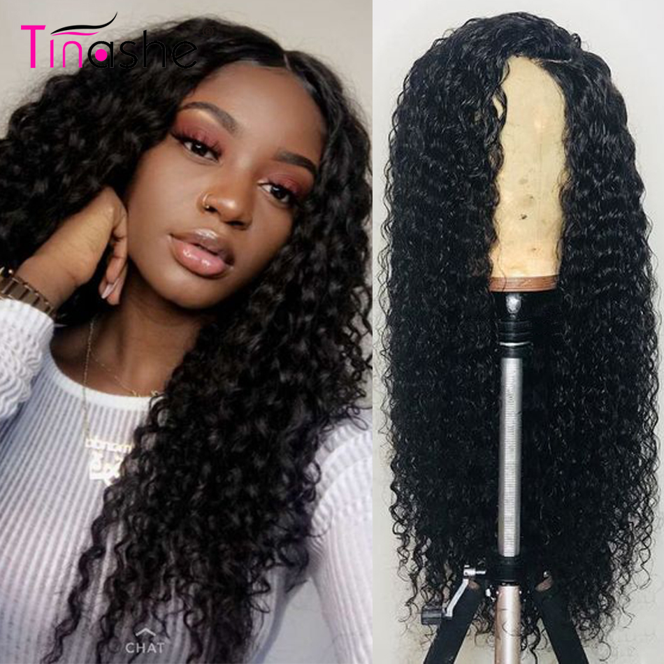Tinashe Hair Lace Front Human Hair Wigs 360 Lace Frontal Wig Pre Plucked With Baby Hair Deep Wave Curly Human Hair Wigs