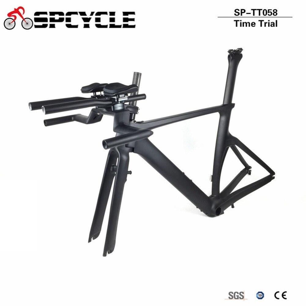 Spcycle Aero Carbon Triathlon Time Trial Frame Chinese Factory Cheap DI2 TT Carbon Frames T1000 Carbon Road Bike Frameset цена