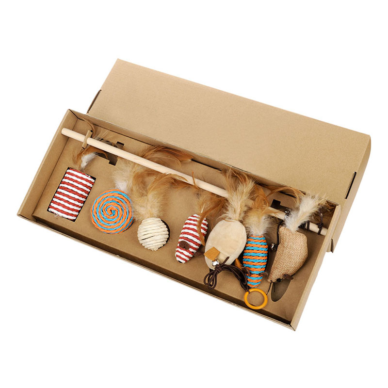 Pet scratching cat toy gift box cat stick toy cat cat scratching cats products for pets cat supply in Cat Toys from Home Garden