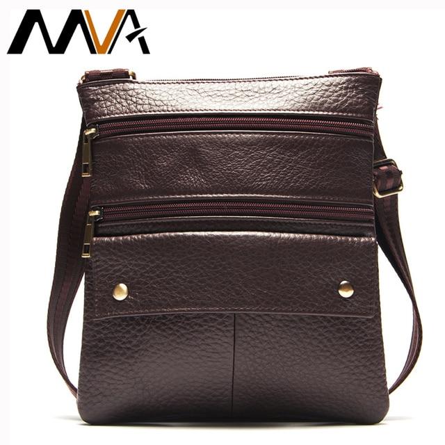 MVA Genuine Leather Men Bag Men Messenger Bags Fashion Small Flap Crossbody Bags Handbags Men's Leather Shoulder Bag Hot Sale
