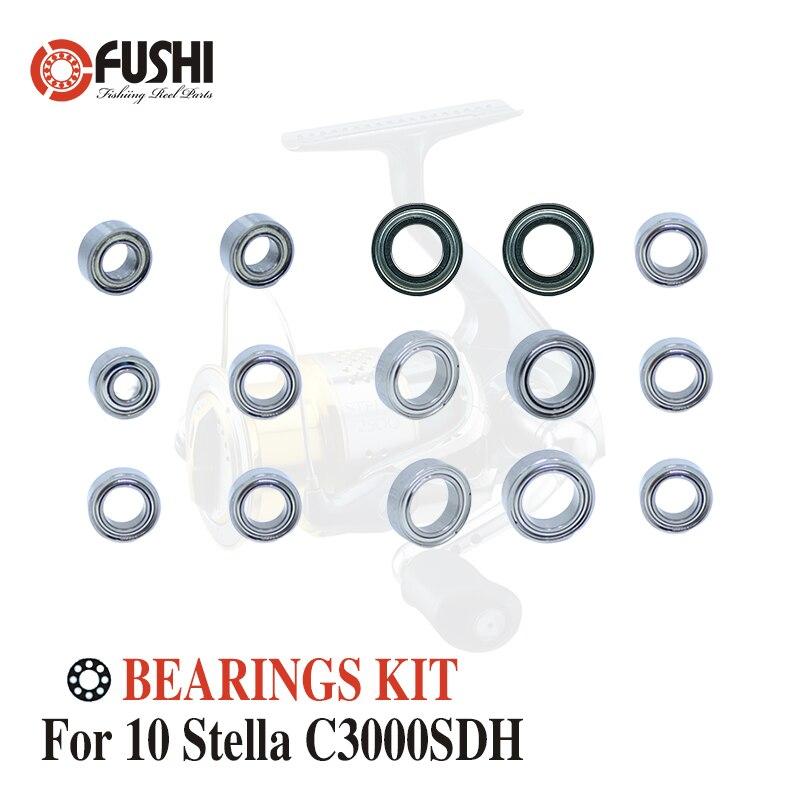 Kit de roulements à billes en acier inoxydable pour moulinets de pêche Shimano 10 Stella C3000SDH/02433