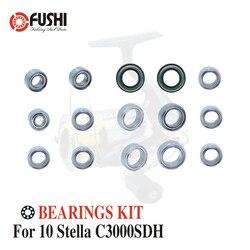 Kołowrotek łożyska kulkowe ze stali nierdzewnej zestaw dla Shimano 10 Stella C3000SDH/02433 kołowrotki zestawy łożysk