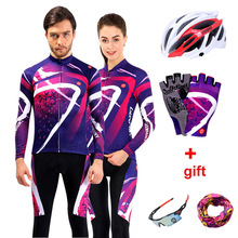 Long Sleeve Cycling Jersey Sets Men 2019 Team Pro Bike Clothing Cycle Mtb Wear Sports Bicycle Clothes Autumn Women Cycling Kit цена