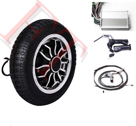 9 500W 24V 4 wheel scooter hub motor , electric scooter conversion kit , electric hub mo ...