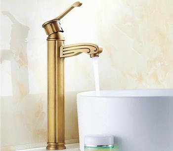 luxury brass bronze plating high single lever classic bathroom basin faucet sink tap water mixer