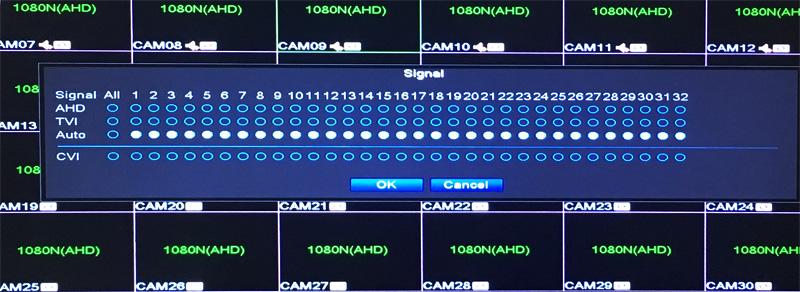 32CH Hybrid 5 in 1 NVR TVI CVI AHD CCTV DVR Operation Picture 03