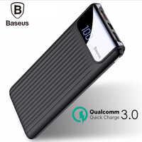 Baseus 10000mAh Power Bank 2A Quick Charger 3.0 Travel Power Bank Usb Charger Powerbank For iPhone Samsung Galaxy S8 S9