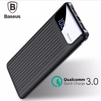 Baseus 10000mAh Quick Charge 3.0 Portable Power Bank 10000 mAh Usb Charger Powerbank For Iphone Charger For Xiaomi mi 9
