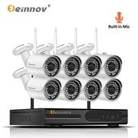 Einnov 8CH аудио система 2MP домашняя беспроводная камера безопасности 1080 P Wi-Fi CCTV видео комплект камеры наблюдения ip-камера NVR Wi-Fi