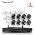 Einnov 8CH Audio System 2MP Home Wireless Security Camera 1080P Wi-Fi CCTV Video Surveillance Camera Kit IP Camera NVR Wifi