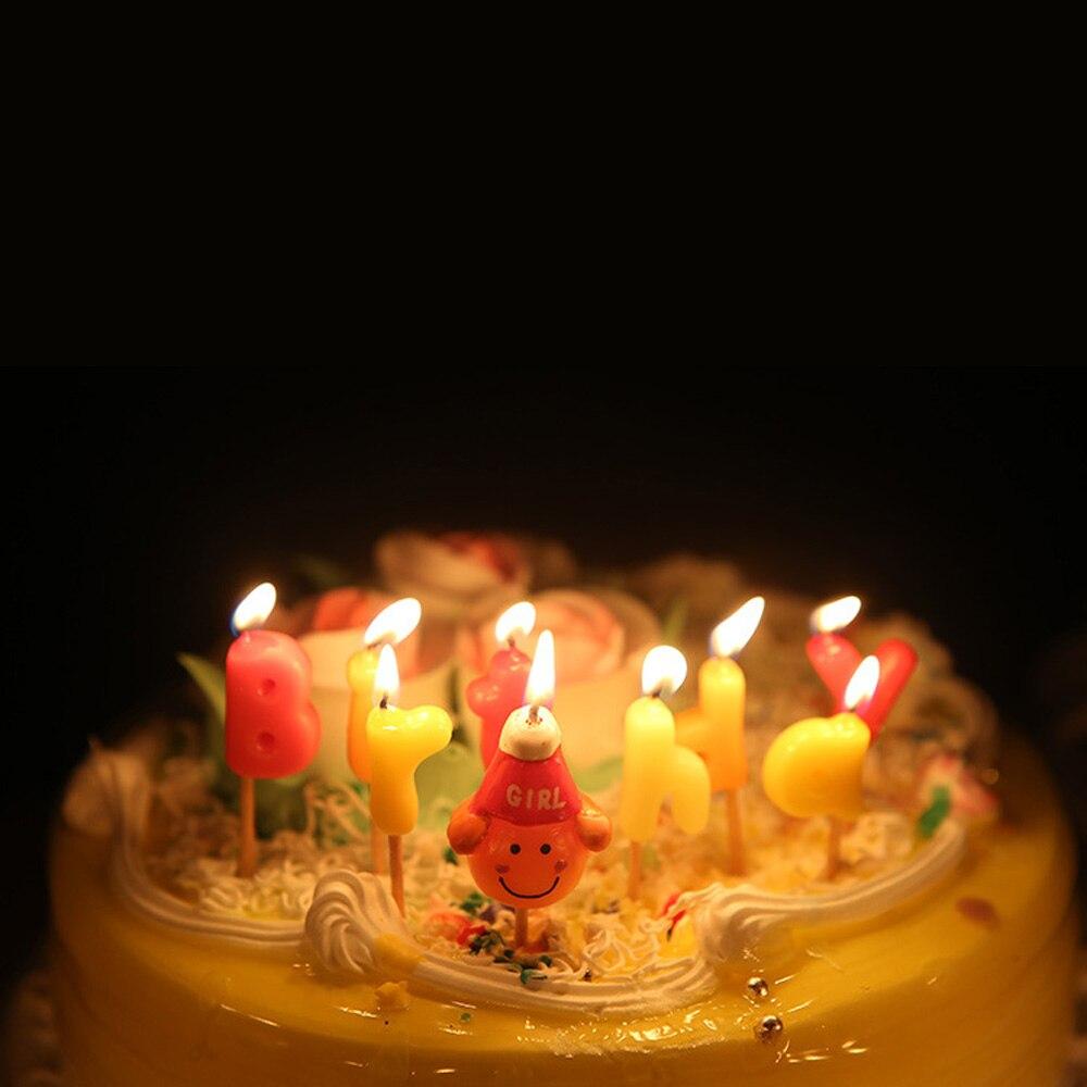 Sensational 3 Stye Happy Birthday Party Candles Colorful Cartoon Birthday Cake Personalised Birthday Cards Veneteletsinfo