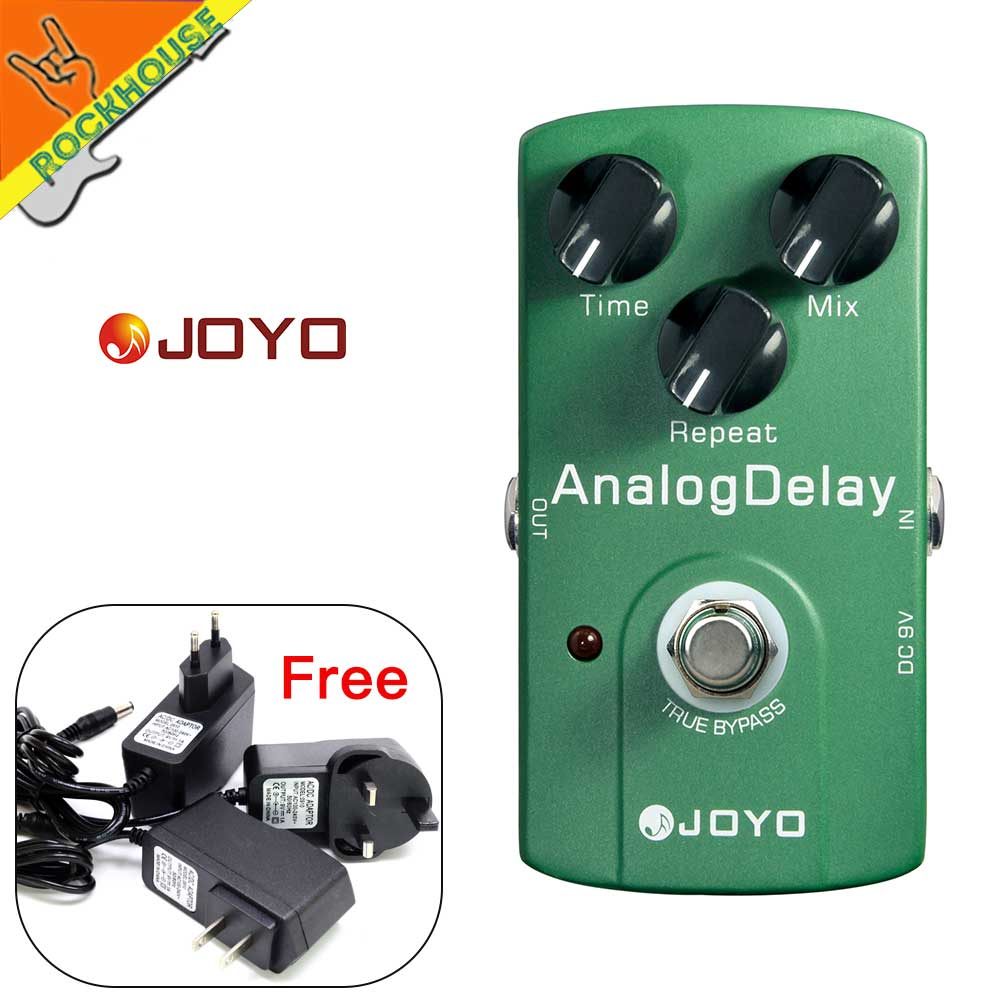 JOYO Analog Delay Guitar Effects Pedal Guitar Echo Delay Time Mix Repeat Adjustable Warm and Nature Tone True Bypass nux ad 3 new arrival guitar effects pedal analog delay effect 300ms max delay time warm echoes sound true bypass free shipping