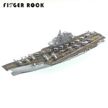 Doigt Rock Porte-avions Liaoning Colorisation 3D Puzzle Acier Inoxydable Maquette De Bateau En Métal De Découpe Laser Puzzle Jouets