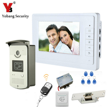 YobangSecurity 7″Inch Video Door Phone Doorbell Entry Intercom System RFID Card Access Control  With Door Lock Remote Controller