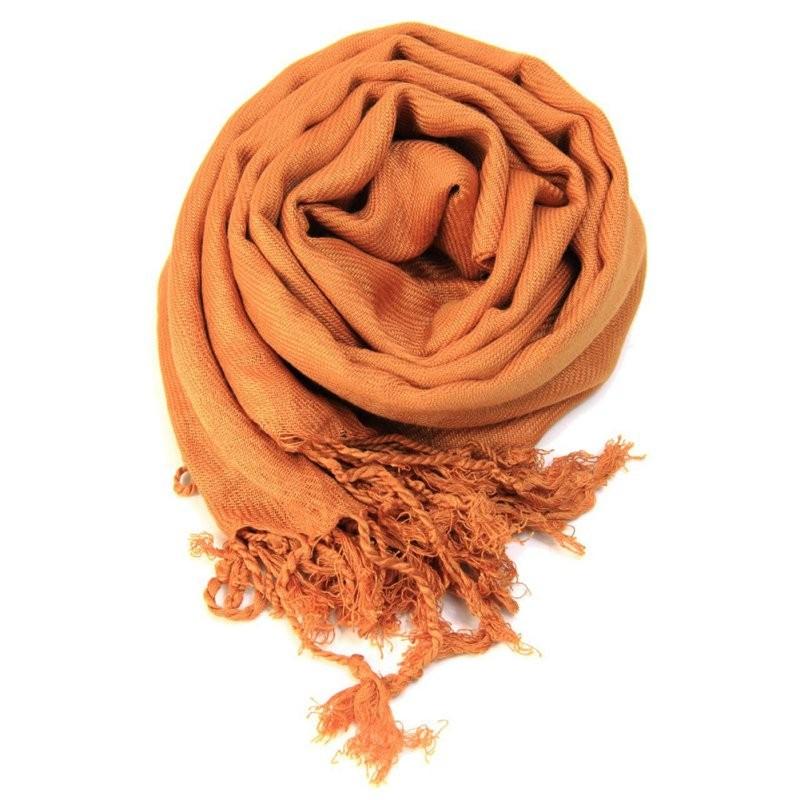 Plain Pashmina Fringed Scarf   Shawls and Wraps   Up to 60% Off Now