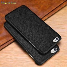 MAKEULIKE Genuine Leather Back Case For iPhone 6 6S Plus Cover Luxury Litchi Pattern Phone Bags Cases For iPhone 6/6S Plus Case цены