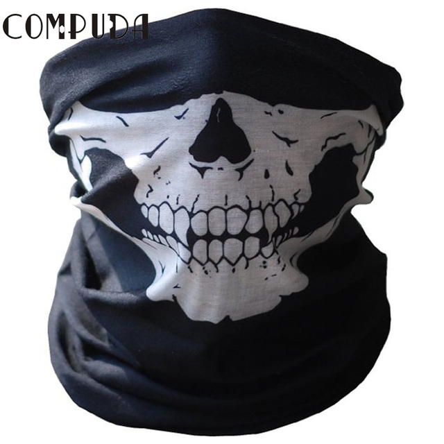 New Branded Mask Fear Mask Halloween Party Black Skull Motorcycle Headwear Mardi Gras Masquerade Drop Shipping High Quality