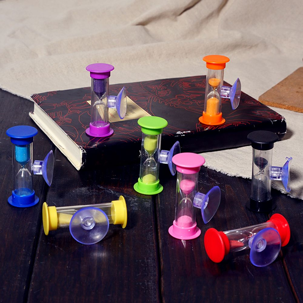 1pc Cute Mini 3 Minutes 5 Minutes Hourglasses Swivel Sand Timer Kids Toothbrush Timer Decorative Sand Clock Gifts image