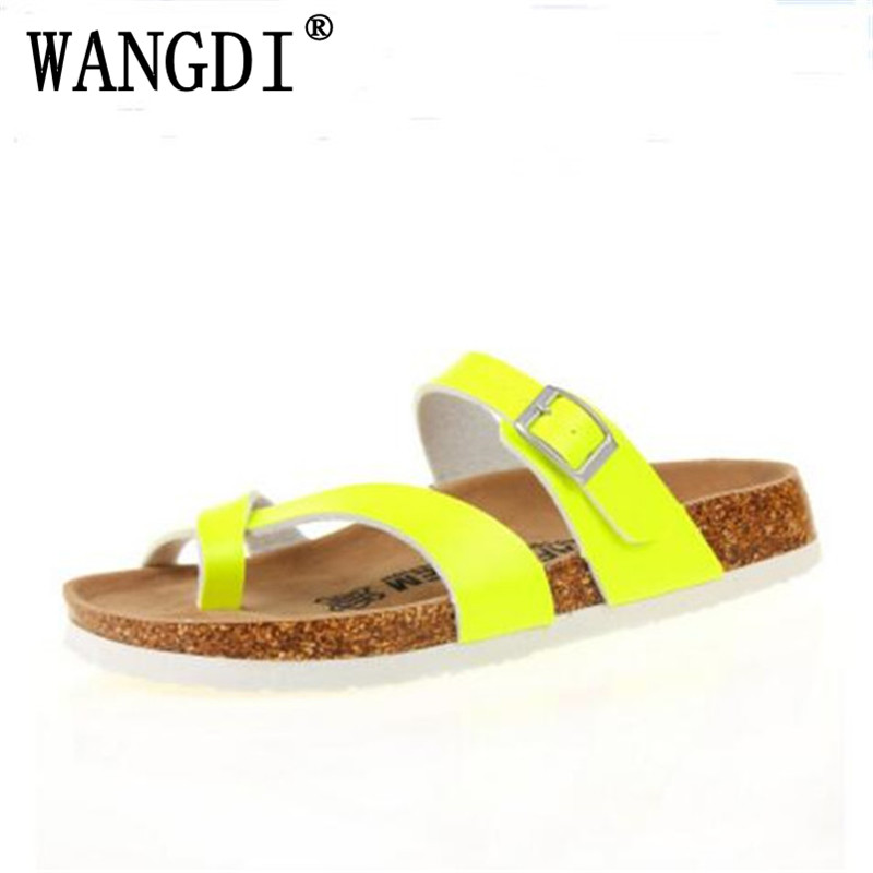 Free Shipping New 2018 Summer Men Sandals Cork Slippers Casual Flip Flops Outdoor Shoes Print Mixed Colors Slides Plus Size
