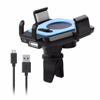 Universal Car Air Vent Mount Smartphones Holder Cradle 360 Degree Rotation Automatic Phone Holder for GPS Device Drop Shipping mobile phone car vent holder