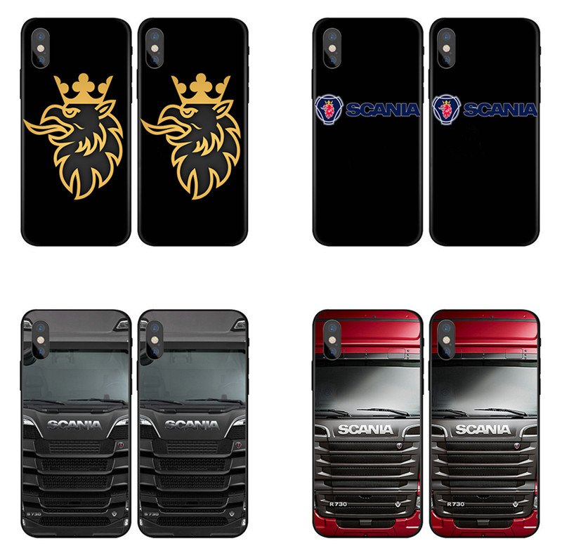 Fashion Truck SCANIA Griffin Phone Case For IPhone X XR XS MAX 8 7 6 6s Plus Logo Phone Cases For Samsung S8 S9 Plus S7Edge Case