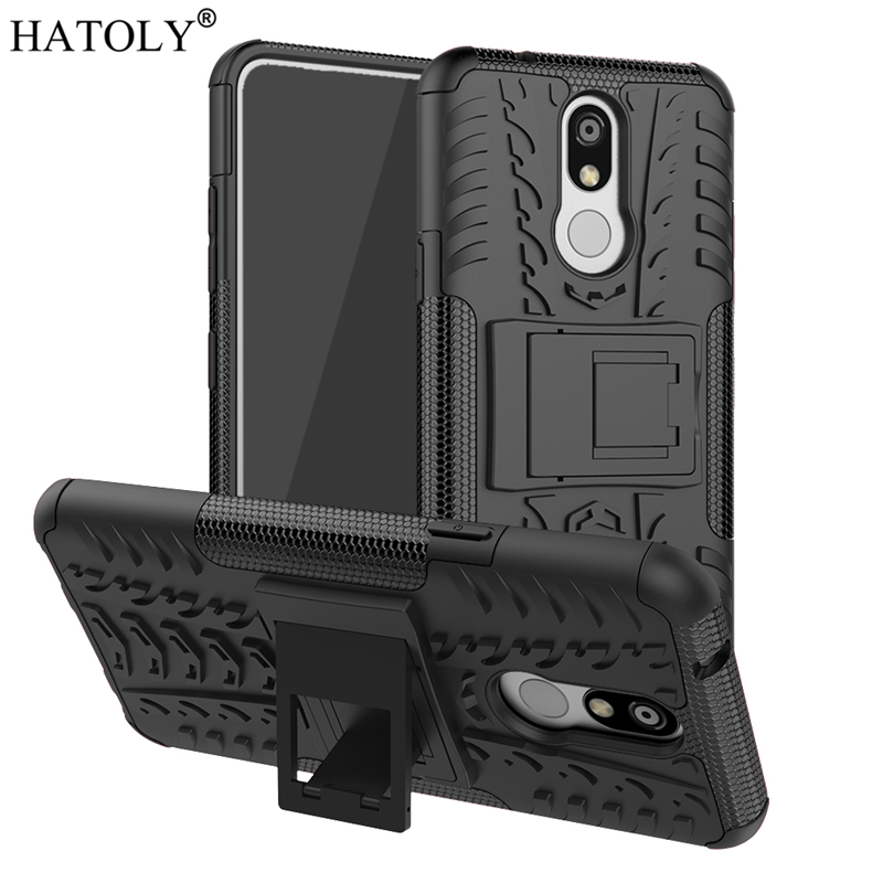 For Cover LG K40 Case K12 Plus X4 Shockproof Armor Shell Heavy Duty Hard Rubber Silicon Phone for