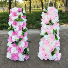 100CM Wedding Arrangement Shooting Props Artificial Flower Row T Stage Ceremony Arch Square Pavilion Corners Decor Flores