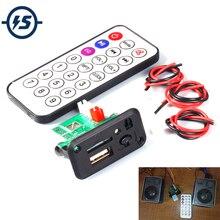 Mini 5V MP3 Decoder Board 3W*2 Decoding Module MP3 WAV U disk TF Card USB Amplifier Speaker Audio Board With Remote Control Wire