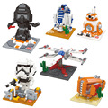 Mini Blocks BB-8 R2-D2 Darth Nanoblocks Star Wars 7 3D DIY Building Toys Bricks Action Gifts Compatible With gift