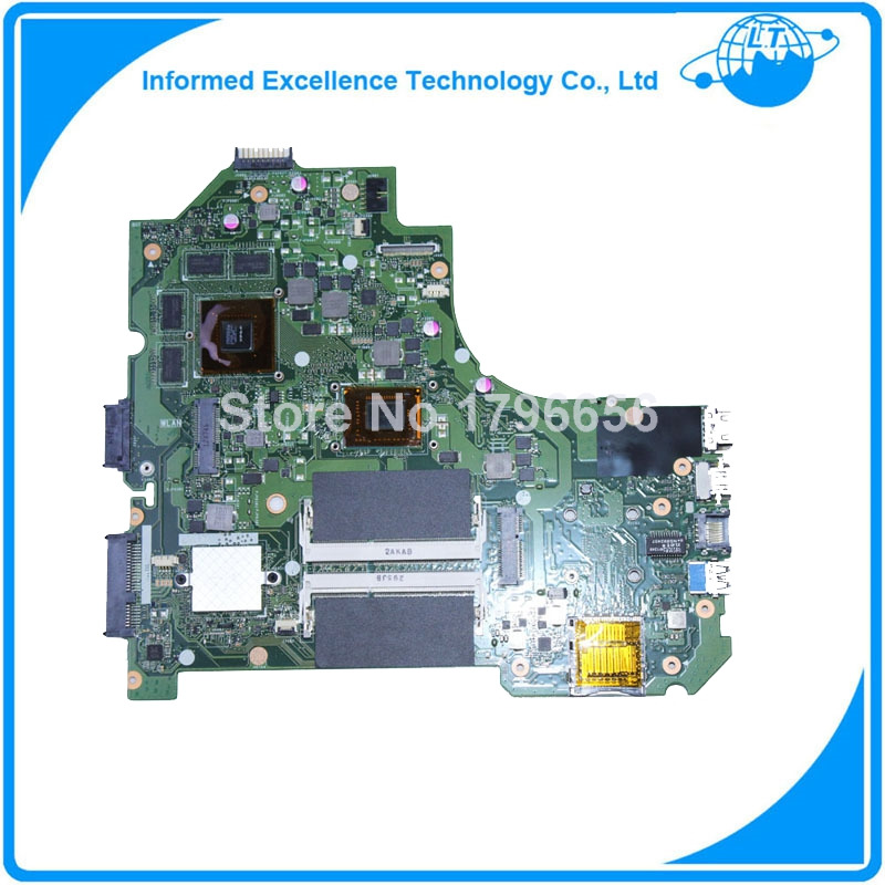 K56CM S56C S550CM A56C DDR3 Non-integrated laptop motherboard for ASUS K56CM 987 CPU REV 2.0PM mainboard g75vx laptop motherboard rev 2 0 ddr3 non integrated 100% tested 2d connector 4ram slots mainboard