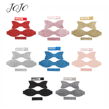JOJO BOWS DIY Hair Bows Craft Supplies Set Solid Chunky Glitter Patches For Needlework Garments Sewing Handmade Materials