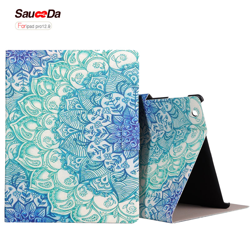 SauceDa case For ipad pro 12.9 inch pu leather Cover New National Ultra thin Flip Protective Stand Smart Case for ipad 12.9 bag back shell for new ipad 9 7 2017 genuine leather cover case for new ipad 9 7 inch a1822 a1823 ultra thin slim case protector