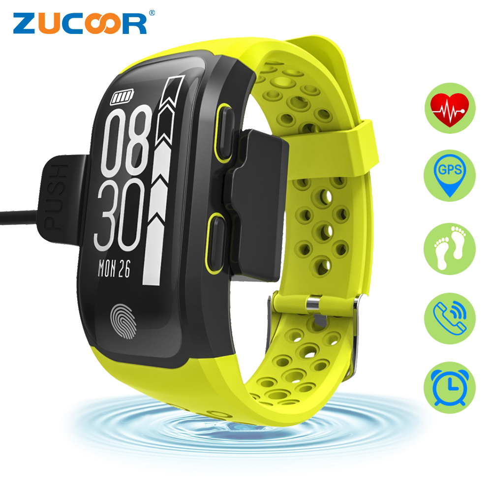 ZUCOOR Smart Fitness Bracelet GPS Tracker Ip 68 Pulse Monitor Band Electronic Bluetooth Bracelets Clever Bangle Wearable Devices smart baby watch q60s детские часы с gps голубые