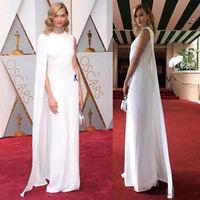 Новые белые знаменитости невесты платья с накидкой Jewel декольте платье изготовление размеров под заказ 2 26