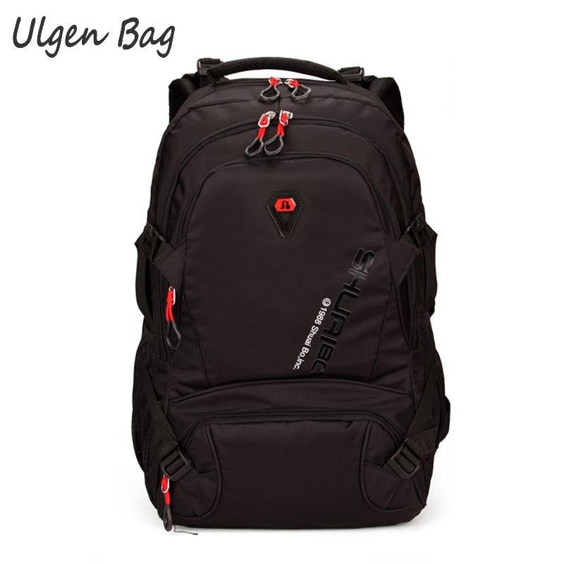 ФОТО High Quality Women&Men's Backpack large capacity Backpacks business Road black Rucksack Pack Large Travel Bag