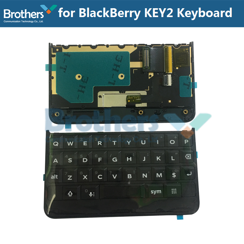Clavier pour BlackBerry Keytwo Key2 clavier bouton avec câble flexible pour BlackBerry Key2 téléphone pièces de rechange noir argent AAA