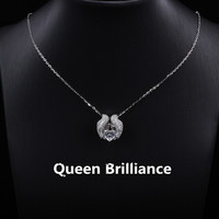 1ctw Heart Cut Lab Grown Moissanite Diamond Floating Pendant Necklace Genuine 18K 750 White Gold Fine
