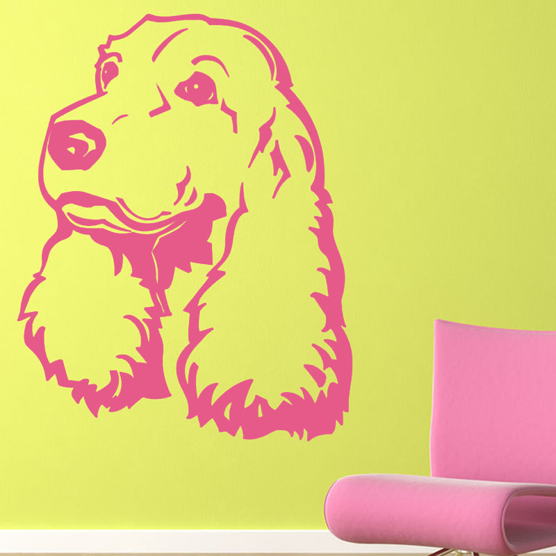 Cute Puppy Dog Wall Stickers Creative Animal Home Decor Vinyl ...